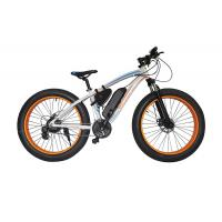 Buy cheap 48v Electric Mountain Bike , Front Disc Brake Electric Powered Bicycle Brushless Motor from wholesalers