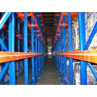 Wholesale High Volume Drive In Pallet Rack , 4000mm Cold Rolled Structure Steel Rack from china suppliers