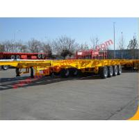 Quality High Capacity Tri - Axle 40 Feet Skeleton Semi Truck Trailer Mechanical Suspension for sale