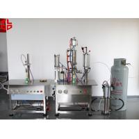 Buy cheap Bag On Valve Aerosol Filling and Crimping Machine Semi Automatic High Speed from wholesalers