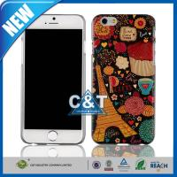 Wholesale Colorful Painted Apple iPhone 6 Cases Clear Bumper Hard Back Skin 4.7 Inch from china suppliers
