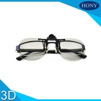 Quality Clip On  Plastic Circular Polarized 3D Glasses Scratch Proof  For Movies for sale