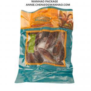 Wholesale Custom Printing Ready To Eat Food Mussel Vacuum Packaging Bags / Three Side Seal Vacuum Sealer Bags from china suppliers