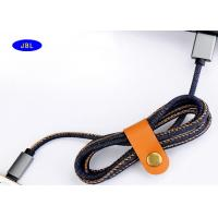 Wholesale Round Jeans Denim Smartphone USB Cable 1 Meter / 2 Meter Length With Fasten Jacket from china suppliers