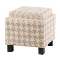 Wholesale Collapsible Storage Cube Ottoman Birch Wood Legs With Optional Fabric Covers from china suppliers