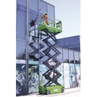 DC Motor drive Self Propelled Scissor lift platform for tough terrain max 12m working height
