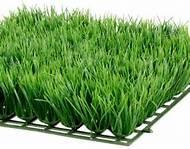 Wholesale Olive straight Decorative Artificial Grass / fake grass squares from china suppliers