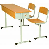 Wholesale Wooden School Double Desks and Chairs from china suppliers