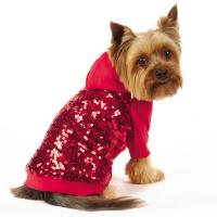 Wholesale Sequin Dog Pullover Sweatshirt Red / Custom Dog Hoodies apparel for small dogs from china suppliers