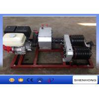 Wholesale 5 Ton Electric Cable Pulling Winch / Double Capstan Winch With Honda GX390 Gasoline Engine from china suppliers