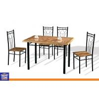 Wholesale Particle Board Top Dining Table and Chairs Set for Restaurant / Home Indoor Outdoor Furniture from china suppliers