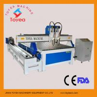 Wholesale wood furniture cnc engraving machine with rotary axis  with twin-heads DSP control system TYE-1530X-2 from china suppliers