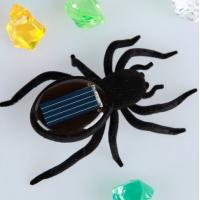 Wholesale Portable Solar Powered Gadgets Plastic Black Viberating Spider Solar Toys from china suppliers