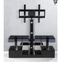 Wholesale Elegant Tempered Glass TV Stand LCD Holder with Two Drawers , Corner Modern TV Stands from china suppliers