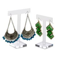 Wholesale T-Shape Clear Acrylic Jewelry Earring Display  Acrylic Jewellery Earring Holder from china suppliers