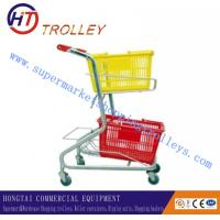 Wholesale Personal Grocery Store Double Basket Shopping Carts , Warehouse Retail Basket Trolley from china suppliers