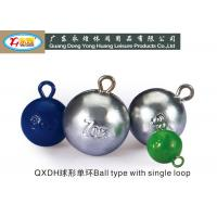 Wholesale 85G ball with single - loop Lead Fishing Sinkers weight die casting fishing lead sinker from china suppliers