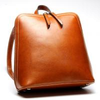 Wholesale Brown Oil Wax Cowhide Fashionable Backpacks Leather With Adjustable Strap from china suppliers