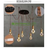 Wholesale fashional modern chandeliers pendant lights edison bulbs A19 A60high ceiling pendant lighting Ceiling lamp from china suppliers