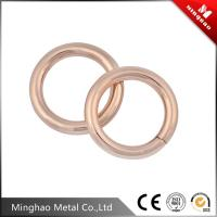 Wholesale High precise round metal blet buckle , O ring rose gold belt buckle from china suppliers