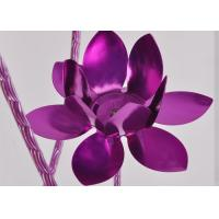 Wholesale Purple Living Room Decorative Floor Lamps Elegant flower Style 100 Watt 1.6m from china suppliers