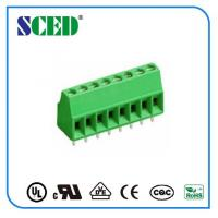Quality 12 Poles Electronic Green pcb terminal block connector PA66 Pitch 2.54mm for sale