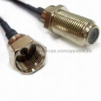 Wholesale RF Coaxial Cable Assembly with Ring and F Female Crimp Connector for Digital Product from china suppliers