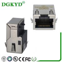 Wholesale KRJ-CB329WDENL Metal shielded 10/100/1000 cat6 Low profile rj45 connector with transformer from china suppliers