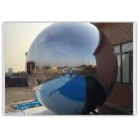 Quality Decoration Silver Inflatable Mirror Balloon , Inflatable Silver Mirror Ball for sale
