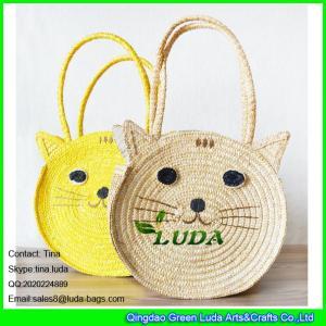 Buy cheap LDMC-027 fashion cute cat  straw purse natural  wheat straw shoulder handbag bag from wholesalers