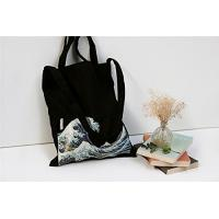 Wholesale 100% Canvas Reusable Black Tote Bags - 12oz. Thick Material Canvas Shopping Bags from china suppliers