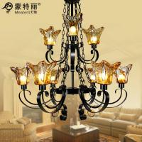 Wholesale Clear Crystal Wrought Iron Ceiling Lights for Villas / Home / Hotel Lighting from china suppliers