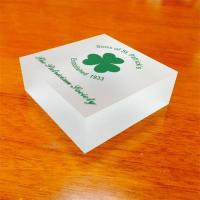 Wholesale Printing logo stand clear acrylic block high quality acrylic photo frame from china suppliers