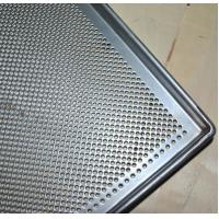 Wholesale Metal Perforated Baking Serving Tray For Oven , Stainless Steel Food Tray from china suppliers