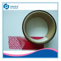 Wholesale Red Adhesive Anti-Counterfeiting Tamper Evident Tape For Paper Packing from china suppliers