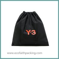 Wholesale customized black cotton drawstring shoes bag,cotton shoes dust bag from china suppliers