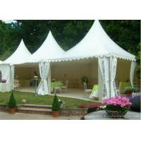 Wholesale White Pagoda Tents 5m * 5m UV - Resistant  Garden Wedding Reception from china suppliers