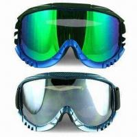 Quality Ski Goggles with TPU Soft Frame, Anti-fog, Double Layers Polycarbonate Lens for sale