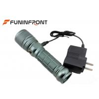 Quality 10W Handheld CREE Q5 LED Torch , Handheld Scorpion Uv Flashlight Rechargeable for sale