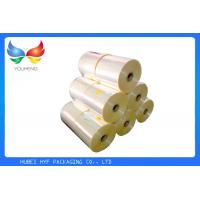 Quality 45% Shrinkage Heat Shrink Film Rolls Transparent Perfect Tightness For Printing Label for sale