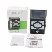 Wholesale Outdoor Solar Wall Light 10 Led PIR Moton Sensor Lamp White Warm White Lighting from china suppliers