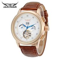 Quality Hand Wind Precision Time Mens Automatic Watch  With Brown Genuine Leather for sale