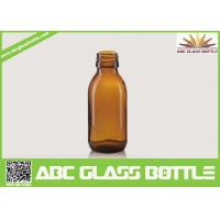 Wholesale 60ML Screen Printing Pet Syrup Amber Glass Bottle from china suppliers