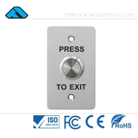 China Stainless Steel Plate Inner Building Gate Electric Magnetic Lock Push Button Exit Switch on sale