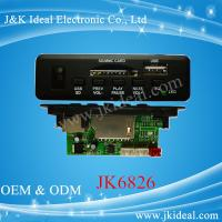 Quality JK6826 5V 12V usb sd mp3 player fm radio kit circuit board with bluetooth for sale