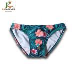 Wholesale custom logo sublimation print swim trunk lycra men's swim brief from china suppliers