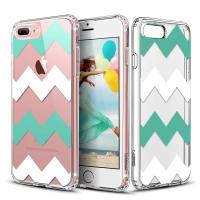 Quality Chevrons Clear Hard Apple Cell Phone Cases Back Panel Integrated Soft TPU Bumper for sale