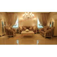 Wholesale High End Romantic Sofa set made by Solid Wooden Frame with Leather and Fabric Cushion from china suppliers