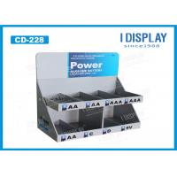 Wholesale 2 Tier Recycled Small PDQ Cardboard Counter Display For Battery Promotion from china suppliers