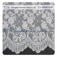 Wholesale Chantilly Lace Fabric Eyelash Lace Trim For Womens Dress , White And Gray from china suppliers